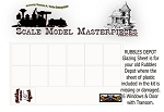 RUBBLES DEPOT Glazing Sheet YORKE/ Scale Mode Masterpieces ON3/ON30 *NEW*