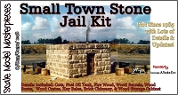 Small Stone Town Jail Kit Scale Model Masterpieces/Thomas Yorke S/O/ON3/ON30 *NEW*
