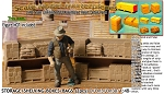 WAREHOUSE SHELVING-PALLETED BOXES/BAGS-OPEN (2pcs) SMM/YORKE O/On3/On30/1:48 *NE