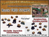 Old Tree Stumps-MEDIUM #1 & #2 (Labstone-24pcs) Scale Model Masterpieces Multi Scale