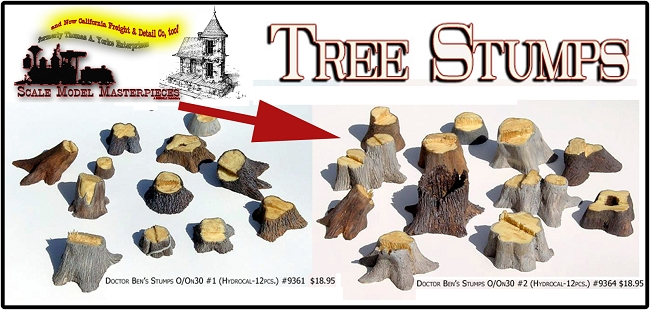 Old Tree Stumps-Large #2 (12pcs) Scale Model Masterpieces Multi Scale