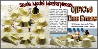 Old Tree Stumps X-Large Scale Model Masterpieces Multi Scale 12pcs 1/48-1/32-1/64-1/25