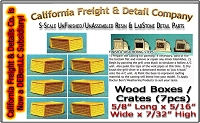 Wood Shipping Boxes/Crates-(7pcs) S/1;64 Scale Model Masterpieces/Yorke