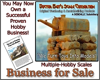 Business For Sale: Doctor Ben's Scale Consortium - Hobby Weathering & Scratchbuilding Products