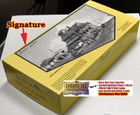 Fine Scale Miniatures *SIGNED* Avram's Baking Company Kit BOX, INSTRUCTIONS, & Castings Box