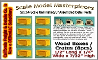 Wood Boxes/Crates (8pcs) Scale Model Masterpieces/Yorke Sn3/1;64