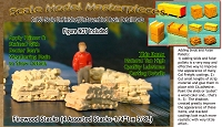 Firewood Stacks (4 Assorted Stacks) Scale Model Masterpieces N/1:160