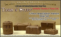 Depot/Station Platform Detail Set (5pcs) Scale Model Masterpieces/Yorke O/1:48