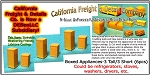 Boxed Appliances-3 Tall/3 Short (6pcs) N/Nn3/1:160-Scale California Freight & Details Co