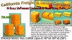 Stacked Boxes-Tall/Large (3pcs) N/Nn3/1:160-Scale California Freight & Details Co.