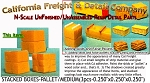 Stacked Boxes-Medium (3pcs) N/Nn3/1:160-Scale California Freight & Details Co.