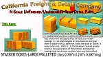 Stacked Boxes-Large (3pcs) N/Nn3/1:160 California Freight & Details Co.