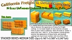Stacked Boxes-Medium (3pcs) N/Nn3/1:160 California Freight & Details Co.