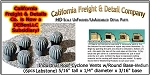 Industrial Roof Cyclone Vents w/Round Base-Medium (6pcs) HO/1:87-Scale California Freight & Details Co