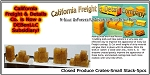 Closed Produce Crates-Small Stack (6pcs) N/Nn3/1:160-Scale California Freight & Details Co.