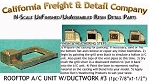 Rooftop A/C Unit /W Ductwork #3 (1pc) N/Nn3/1:160-Cal Freight & Details
