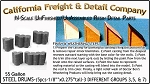 Steel 55gal Drums/Barrels-5pc Set of 3, 5 & 7 N/Nn3/1:160 California Freight & Details Co.