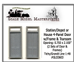 RGS/DRGW Style Depot Door & Transom (2Sets) Grandt Line O/1:48