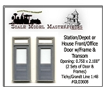 RGS/DRGW Style Office Door & Transom (2Sets) Grandt Line O/1:48