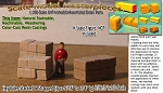 "Hay Bales-Stacked & Strapped (3pcs-9/16"" to 3/4"" lg)  Scale Model Masterpieces N/Nn3-1;160"