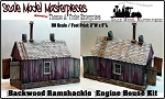 Backwoods Ramshackle Engine Shed Kit-Scale Model Masterpieces HO/HOn30/HOn3 NEW!