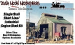 Single Stall Shortline/Industrial Engine Shed Kit Scale Model Masterpieces HO/HOn3