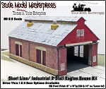 Two Stall Shortline/Industrial Engine House Kit Scale Model Masterpieces/Yorke HO/1:87