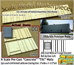 Tilt-Up Spline Style Walls (DD)-Single Large Elevated Roll Up Door-Left (2pcs) SMM N/Nn3