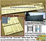 Tilt-Up Spline Style Walls (F)-2 Elevated Doors-1eaSmGlass/Lg Rollup & Window (2pcs) - 20'x40' SMM-N/Nn3