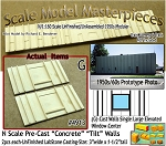 Tilt-Up Spline Style Walls (G)-Single Large Elevated Window-Center (2pcs) SMM-N/Nn3