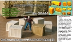 WOOD CRATES/BOXES (6pcs) Scale Model Masterpieces/Yorke HO/HOn3/HOn30