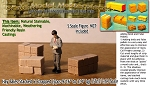 "Hay Bales-Stacked & Strapped-Medium (3pcs-9/16"" to 3/4"" lg)  Scale Model Masterpieces S/Sn3-1;64"