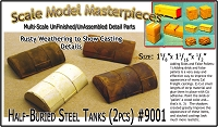 Half-Buried Steel Tanks-4pcs Scale Model Masterpieces/Yorke LABSTONE Multi-Scale
