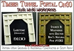 Wooden Timber Tunnel Portal-RUSTIC (LabStone) Scale Model Masterpieces On30