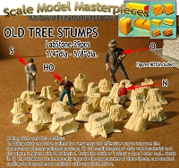 Old Tree Stumps-(LabStone-29pcs) Scale Model Masterpieces Multi Scale