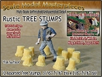 Rustic Tree Stumps-Assorted Straight 12pcs Scale Model Masterpieces O/1:48