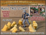 Rustic Tree Stumps-Assorted Sloped 12pcs Scale Model Masterpieces O/1:48