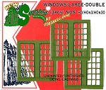 WINDOWS-LARGE-DOUBLE 18-Pane (3pcs) - HO/HOn3/HOn2 SEQUOIA MODELS