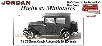 Jordan Highway Miniatures 1926 Essex Coach Automobile Kit NOS HO/1:87
