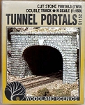 CUT STONE TUNNEL PORTAL (2pcs) N-Scale WOODLAND SCENICS.AIM.Pre-Size