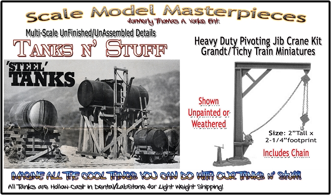 HO Scale Tichy Train Group 8007 Jib Crane Kit