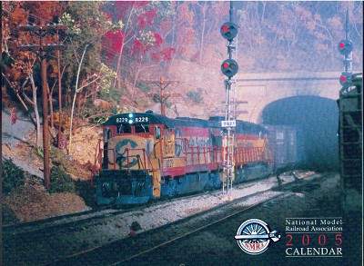 National Model Railroad Assn 2005 Annual Membership Calendar HO N HOn3 On30 Sn3
