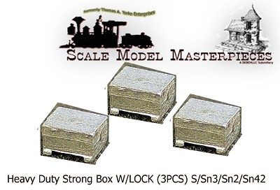 Heavy Duty Strong Box W/LOCK (3PCS) FINESTKIND MODELS S/Sn2/Sn3/1:64