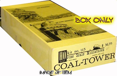 Fine Scale Miniatures #145 Canadian National Coal-Tower Kit - FSM BOX ONLY