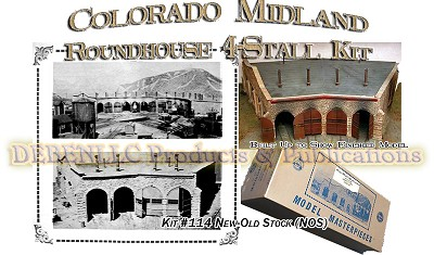 COLORADO MIDLAND ROUNDHOUSE KIT Model Masterpieces fsm