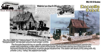 Short Line Stone Depot Kit YORKE/Scale Model Masterpieces O/On3/On30