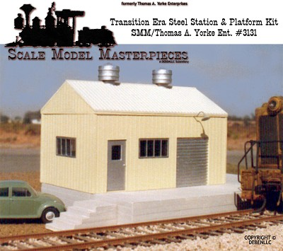 Transition Era/Modern Pre-Fab Metal Station & Platform Kit Yorke/SMMHO/HOn3