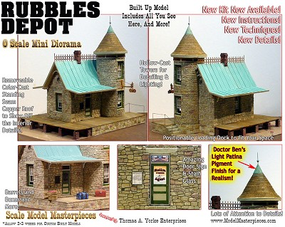 *BUILT UP* RUBBLES DEPOT YORKE 1:48/1:43 Scale Model Masterpieces On2/On3/On30