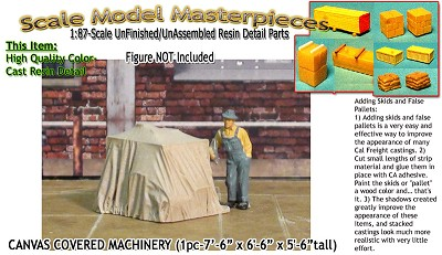 CANVAS COVERED MACHINERY/FLATCAR LD (1pc) Scale Model Masterpieces HO/HOn3/HOn30