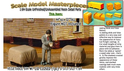 Tarp Covered-PALLETED SACKS/BAGS (2pcs) S/Sn3/Sn2/1:64 SMM *NEW*